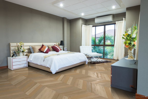 Select Grade Unfinished Oak Chevron (60-degree) Parquet | TW-E937UF