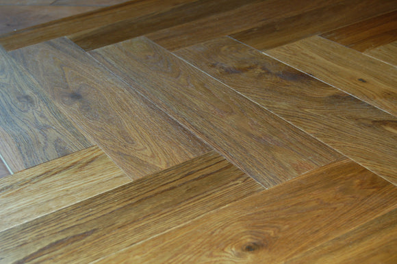 Herringbone Parquet Block Engineered Double Brushed Fumed Floor | TW-E948T