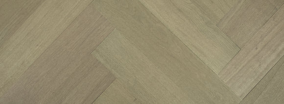 Lightly Fumed & Smoked Micro-Bevelled Oak Parquet Flooring Raw Timber Finish | E214