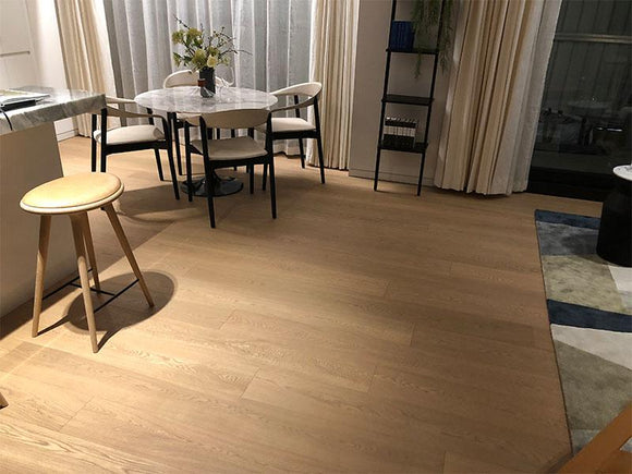 Light Brushed Fumed Raw Timber UV Cured Finish | TW-E615T