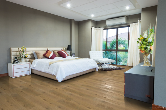 Brushed Light Grey Oiled Oak Flooring | TW-E693