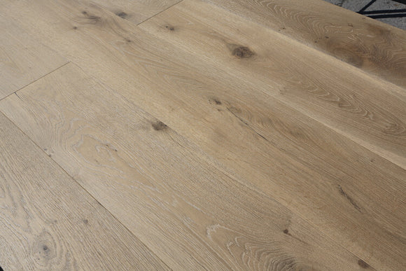 Deep Brushed Taupe Grey Rustic European Oak Flooring | E358 YSJ