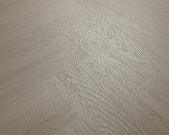 Alabaster White Oak Luxury Impervia Herringbone Parquet Flooring | IMP-HB-RE222
