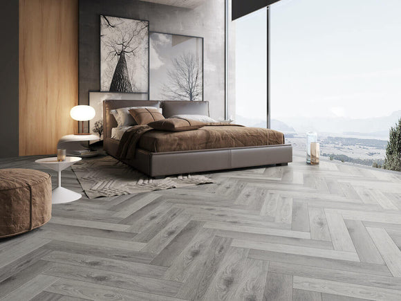 Impervia Herringbone Parquet French Grey
