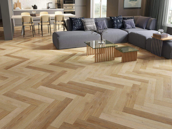 Impervia Herringbone Parquet Impervia Natural Oak