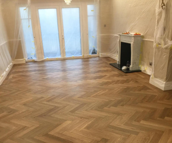 Natural Smooth Oak Herringbone Parquet Hard Wax Oiled | TW-E955