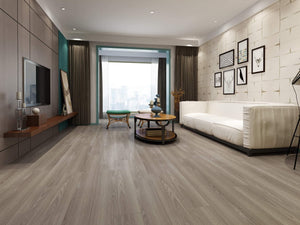 Driftwood Grey Luxury SPC Rigid Vinyl Flooring - Living Room