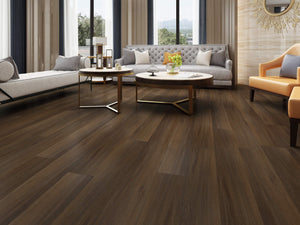 Fumed Oak Luxury SPC Rigid Vinyl Flooring - Living Room