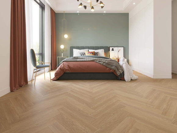 Impervia Luxury Herringbone Champagne Oak Flooring