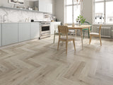 Impervia Luxury Herringbone White Washed Oak Flooring