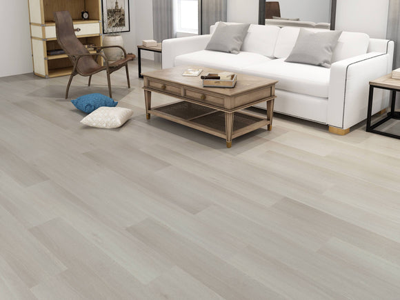 Scandinavian Oak Luxury SPC Rigid Vinyl Flooring - Living Room