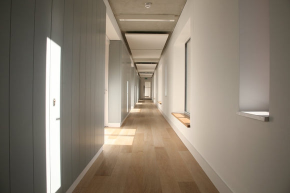 Brushed Limed Oak Flooring Lacquered Finish