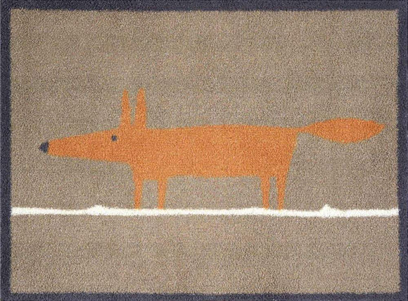 Mr Fox Door Mat (Brown)