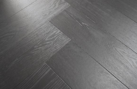 Carbonised Black Oak Herringbone Parquet | TW-E908 FX