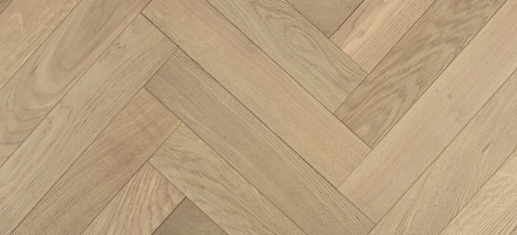 Herringbone Engineered Smooth Nature Grey UV Oiled Oak | TW-E917