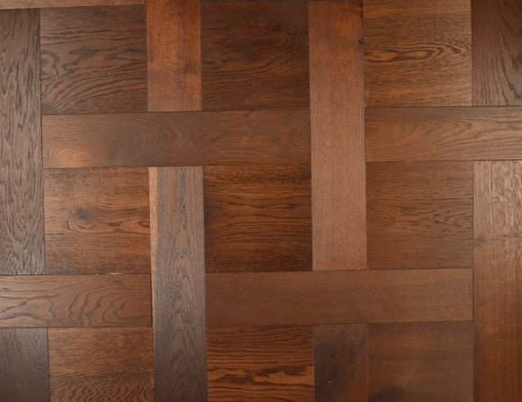 Brushed Fumed Oak Basketweave Parquet Flooring | TW-E931SQ & TW-E931