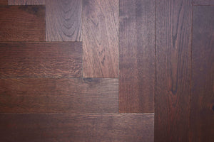 Deep Fumed Oak Herringbone Parquet | TW-E931 YH