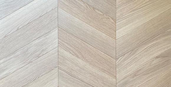 Raw Timber UV Cured Oak Chevron 60-Degree Parquet Flooring | TW-E932 DEF