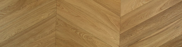 60 Degree Chevron Fumed Engineered Parquet Brushed UV Oiled Oak | TW-E936