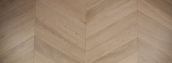 Cobble Grey Chevron (60 degree) Fumed Brushed Engineered Oak Floor | TW-E940