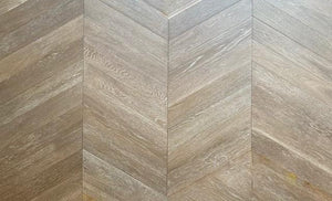 Dark Cobble Grey Oak 60-Degree Chevron Parquet | TW-E941