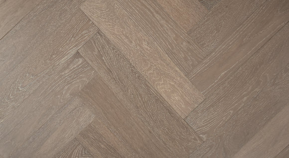 Cobble Grey Oak Herringbone Parquet | TW-E958