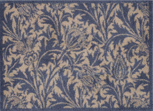 Thistle Blue and Gold Door Mat