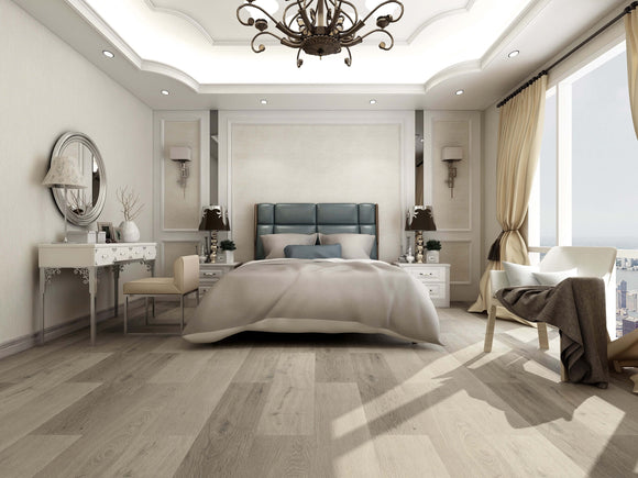 French Grey Luxury SPC Rigid Vinyl Flooring