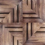 Walnut Diamond Art Deco Parquet Panel