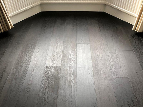 Carbonised Oak Flooring With Oiled Finish