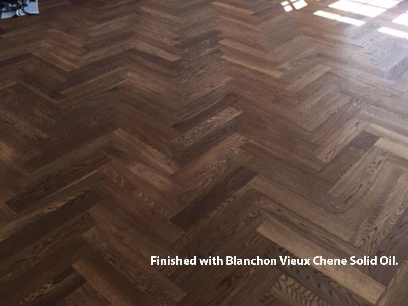 Deep Fumed Oiled Oak Herringbone