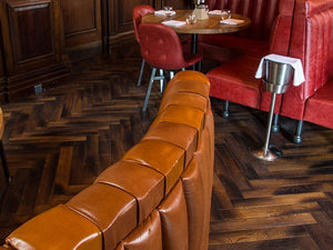 Herringbone Engineered Parquet Antique Fumed Burnt Fired Oak | TW-E956T