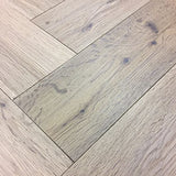 Herringbone Parquet Block Double Brushed Fumed Enviro Oiled Floor | TW-E947T