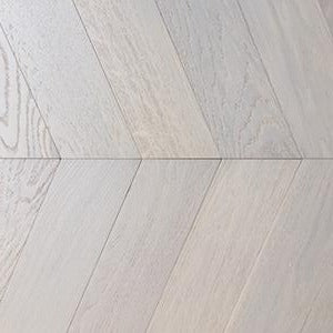 Prime White UV Oiled Oak 60 Degree Chevron Parquet Wood Flooring | TW-E922