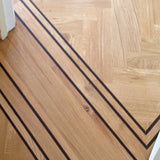 Solid Wenge Parquet Border Strips Unfinished