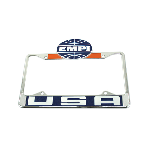 USA License Plate Frame, Front, Each License Plate Brackets Empi # 00-6461-0