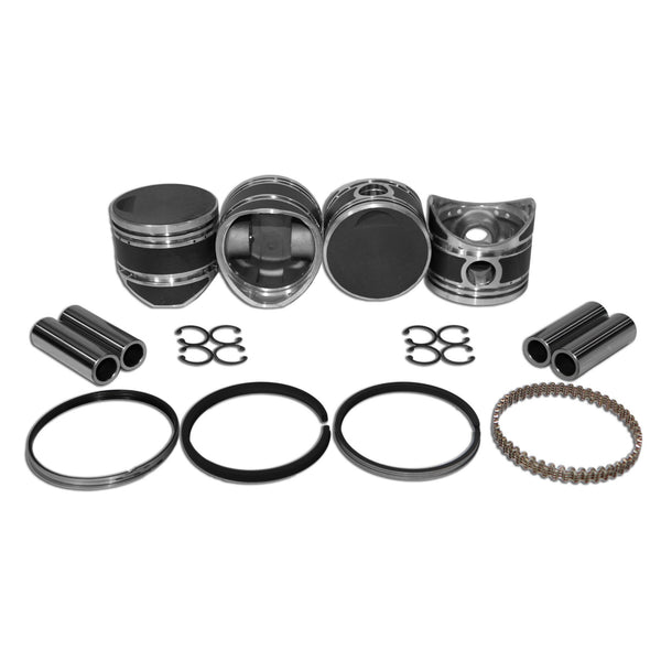 80mm Porsche 356 Piston Set Pre A 1500cc 22mm Pin-356a-b, AA Performance Products, Hypereutectic