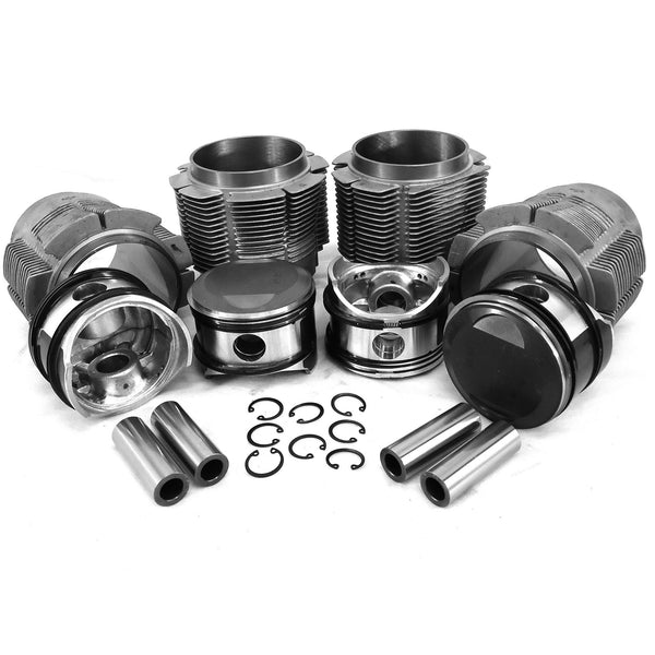 86mm Porsche 356C/912 Big Bore Piston & Aluminum Cylinder Kit-356c-912, AA Performance Products, biral, Hypereutectic