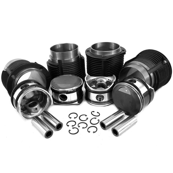 86mm Porsche 356C/912 Big Bore Piston & Cast Cylinder Kit-356c-912, AA Performance Products, Cast Iron, Hypereutectic