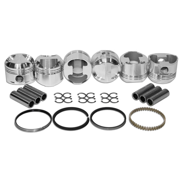 86mm LOW COMP, Porsche 911 JE Piston Kit 2.2 & 2.4-2618 Forged, 911, JE Pistons
