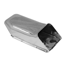Chrome Lower Oil Cooler Doghouse Exhaust Tin-Chrome