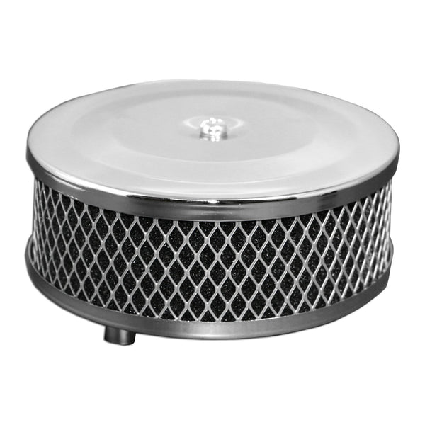Chrome Air Cleaner w/ Foam Element Stock Carb-AA Performance Products, new-arrivals