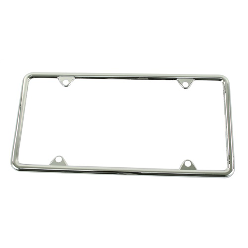 License Plate Frame, Chrome, Each License Plate Brackets Empi # 15-2050-0
