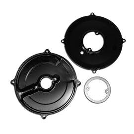 Black 3pc Alternator Backing Plate Kit-Black
