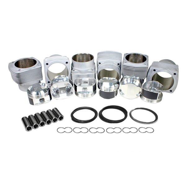 95mm, Porsche 911 JE Piston & Cylinder Kit 3.0L Turbo 6.5:1, Deluxe-2618 Forged, 911, AA and JE,