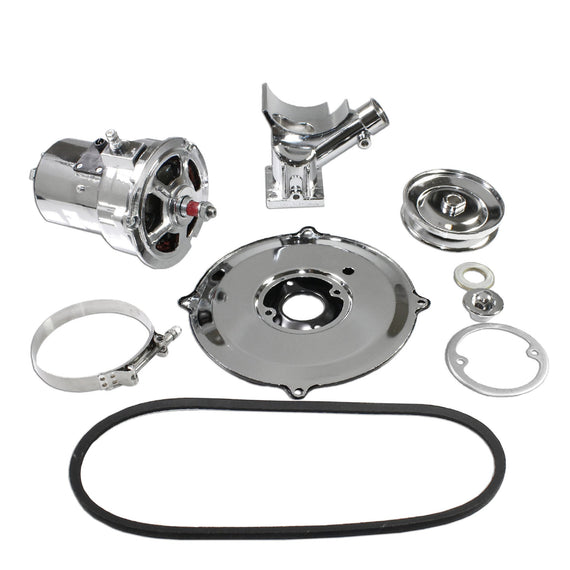 Complete Chrome VW (60 Or 75) AMP Alternator Conversion Kit for Type 1 and 2:AL82NC60C-MAlternator Conversion Kit|LJ Air-Cooled Engines