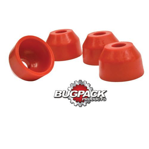 Urethane Tie Rod Boots, Stock VW, Red, 4 Pc Tie Rods And Ball Joints Empi # B5-5752-1
