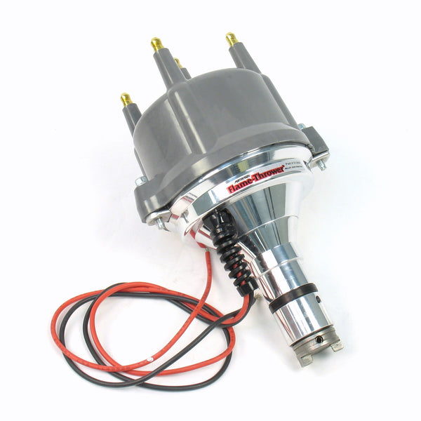 Pertronix Flame-Thrower Billet Distributor, w/Grey Cap and Ignitor II Electronic Ignition-new-arrivals, Pertronix