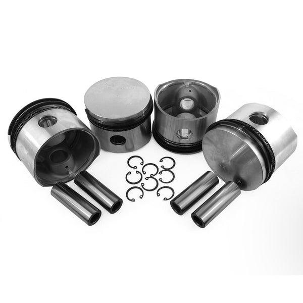 VW 80MM Type 1 Piston Set 36HP Big Bore-AA Performance Products, Hypereutectic, Type-1