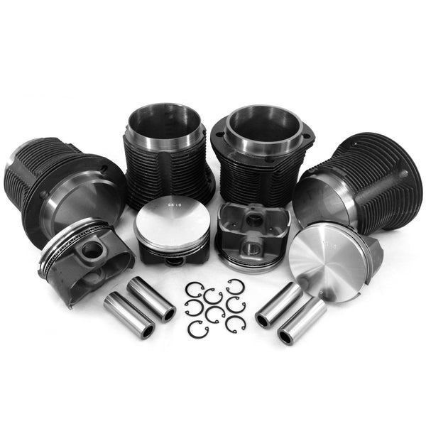 "VW 92 X 82mm Thick Wall Kit Piston & Cylinder Kit for 92mm Case ""K""-AA Performance Products, Cast Iron, dis25, Hypereutectic, Type-1"